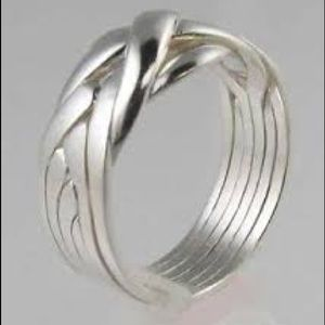 Jewelry - 6 Band Sterling Silver Puzzle Ring
